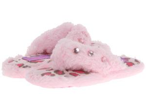 Fuzzy Fleece Slippers on Zappos